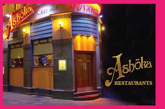 Indian cuisine at Ashoka West End – 55% off