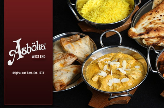 Indian feast for TWO at Ashoka West End – save 55%