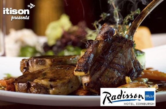 Dine at the 4 Star Radisson Blu