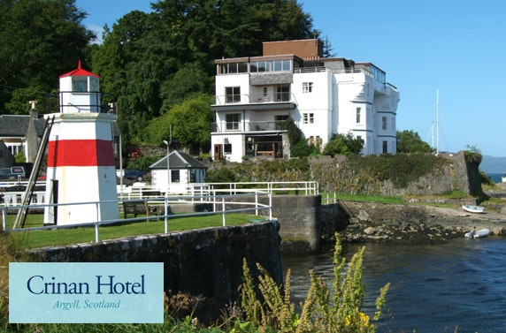 Award-winning overnight stay at Crinan Hotel