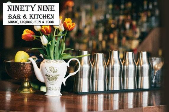 Dine at 99 Bar & Kitchen