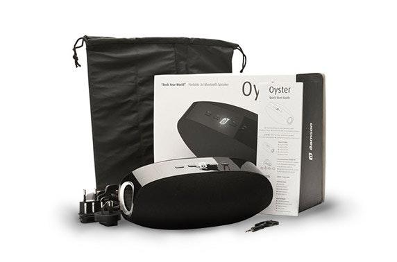 Damson Oyster Portable 3D Wireless Speaker in Black or White