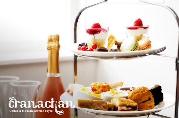 Cranachan Prosecco afternoon tea, Princes Sq