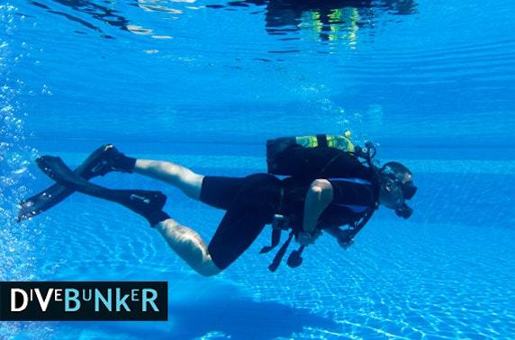 Scuba diving beginner or refresher lesson