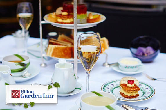 Hilton Garden Inn Aberdeen Prosecco afternoon tea itison