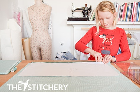 Junior sewing class at The Stitchery