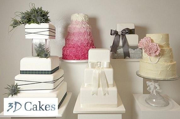 3D Cakes wedding cake