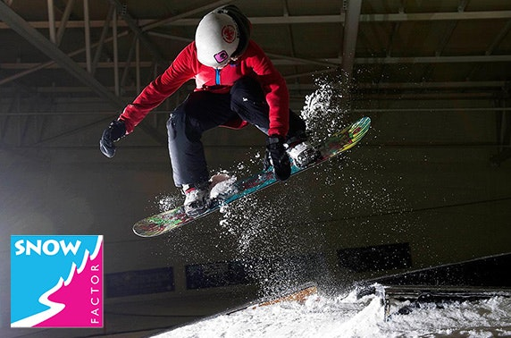 Snow Factor skiing/snowboarding lesson
