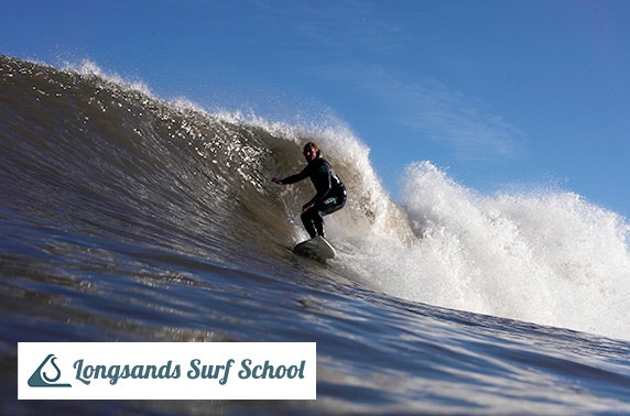Longsands beach surf lesson