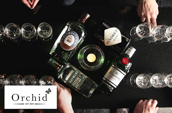 Gin tasting at Orchid