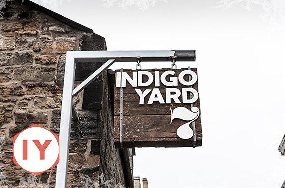 Indigo Yard sharing platter & drinks