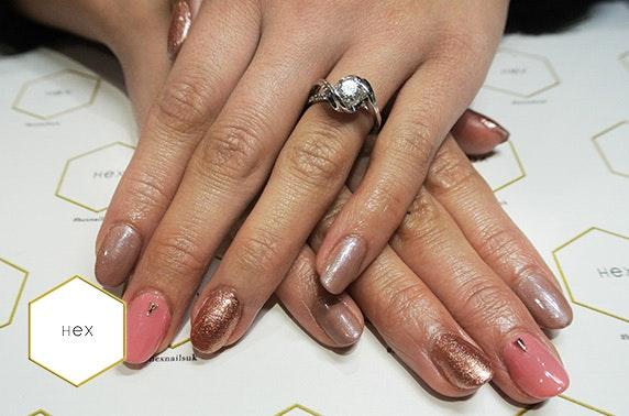 Hex Nails gel and mini manicure