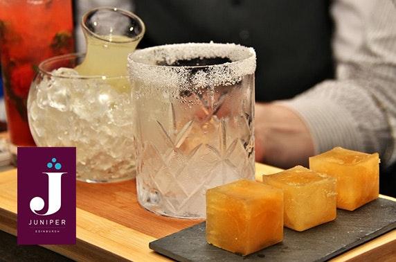 Juniper Edinburgh cocktails and snacks