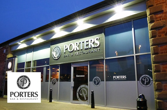 Porters burgers – from £5pp