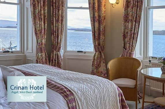 Award-winning Crinan Hotel coastal stay