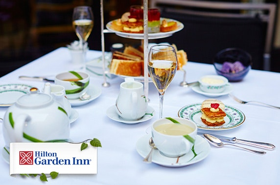 Afternoon tea with fizz at Hilton Garden Inn, Aberdeen