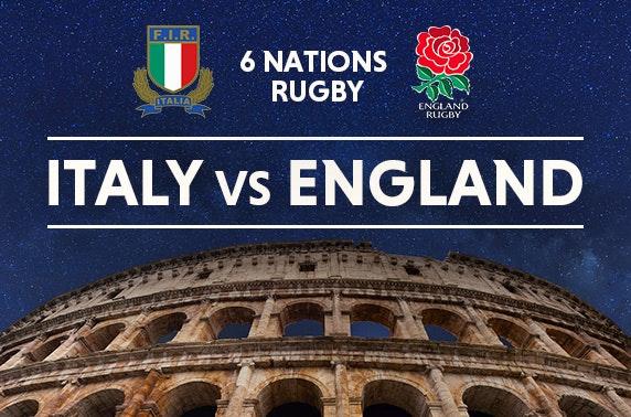 Italy vs England 6 Nations tix & Rome stay
