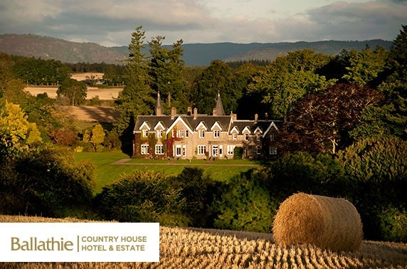 4* Ballathie House Hotel overnight, Perthshire