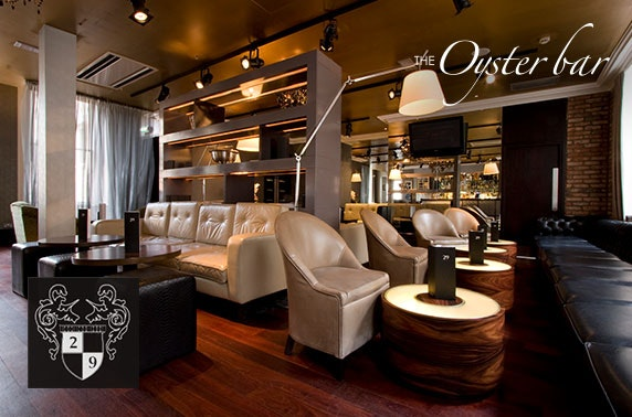 29 Oyster Bar drinks & nibbles