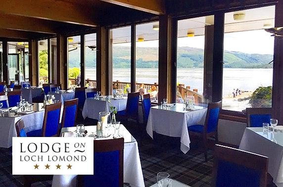 4* Lodge on Loch Lomond DBB