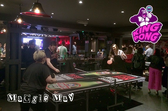 King Pong launch with free food & drinks, Maggie Mays