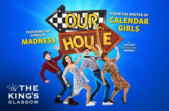 our house the musical Our house 's original production won the olivier award for best new musical in 2003 it ran for 10 months at the cambridge theatre and was directed by matthew warchus the musical was revived for a uk tour in 2008, a one-off charity show in 2012 at the savoy theatre in london and a production which toured the uk in 2015.