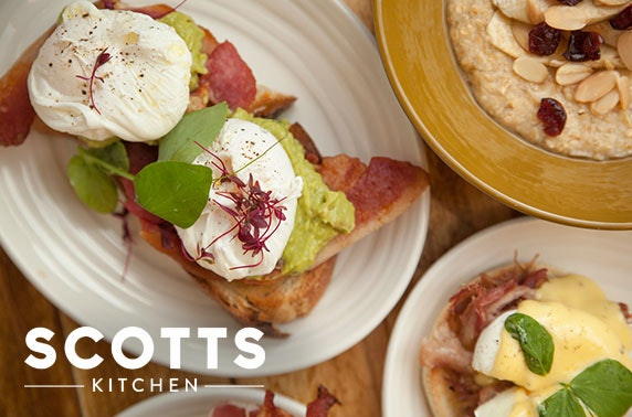Breakfast or sharing boards at Scotts Kitchen, City Centre