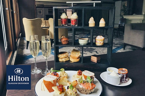 Afternoon tea & cocktails at 4* Hilton Glasgow Grosvenor