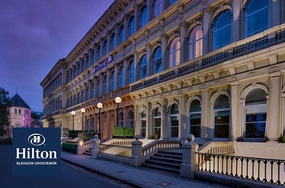 Afternoon tea & fizz at 4* Hilton Glasgow Grosvenor