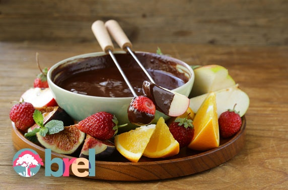 Brel cheese or chocolate fondue and wine