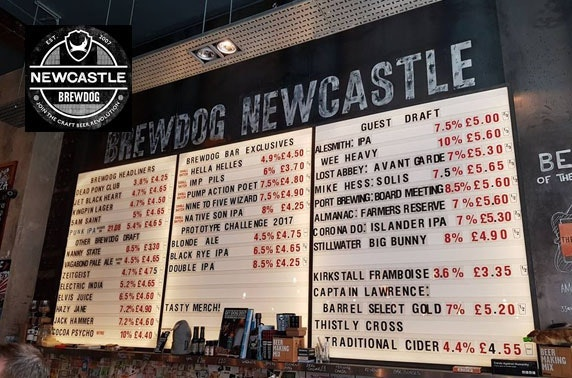 Brewdog Newcastle Pizzas Drinks