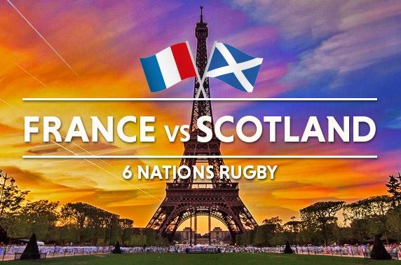 France vs Scotland 6 Nations tix & Paris stay