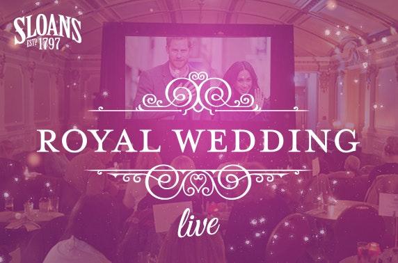 Royal Wedding Live, Sloans
