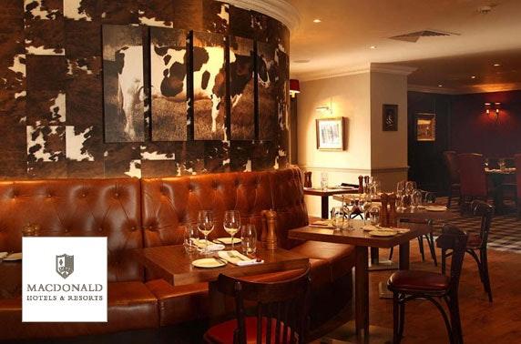 Prosecco afternoon tea, 4* Macdonald Inchyra Hotel & Spa
