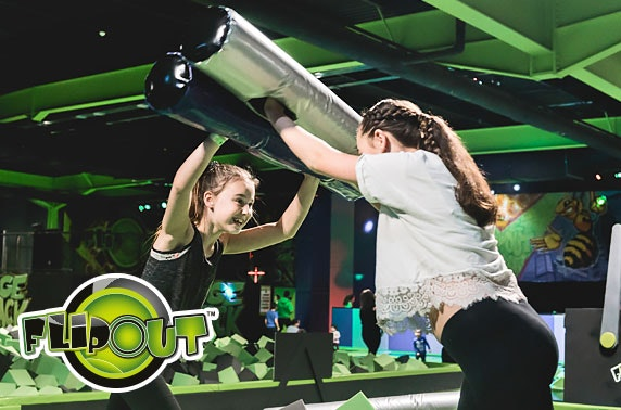 2 hour session at Flip Out Manchester - £3.50 per hour