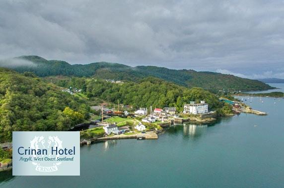 Crinan Hotel, Argyll stay