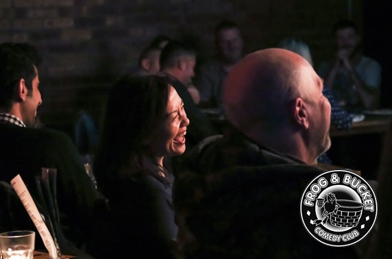 Frog & Bucket Comedy Club tix & pizza