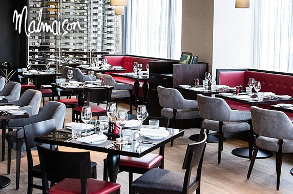 4* Malmaison 2 course dining, Edinburgh