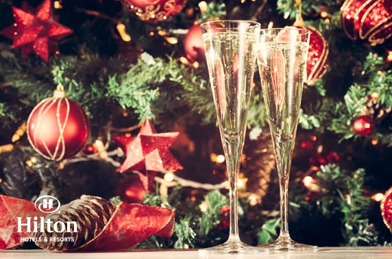 Christmas party night at 4* Hilton Edinburgh Carlton
