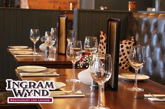 Ingram Wynd steak dining, Merchant City