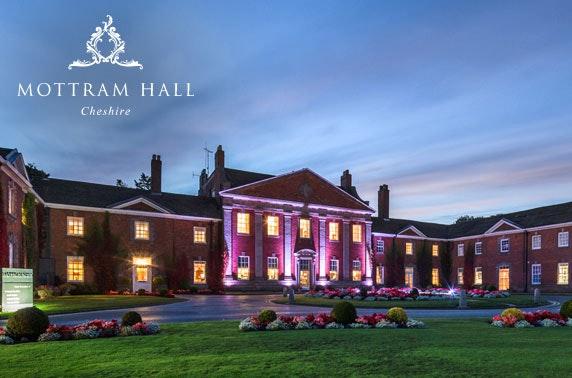 4* luxury Mottram Hall stay, Cheshire