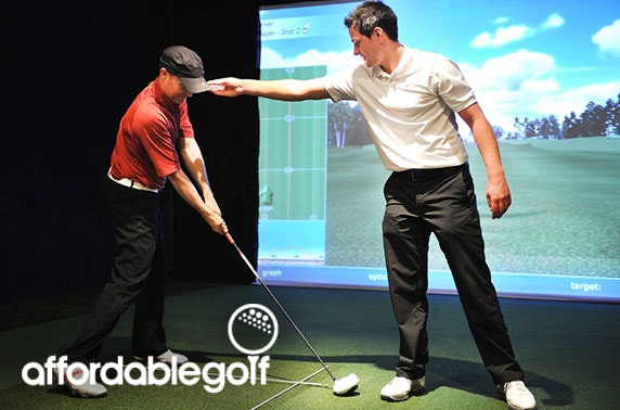 PGA indoor golf lessons; choice of 3 stores