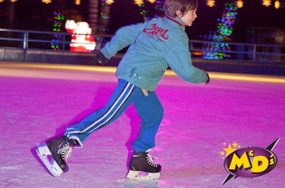 M&D's outdoor ice skating - from £4pp