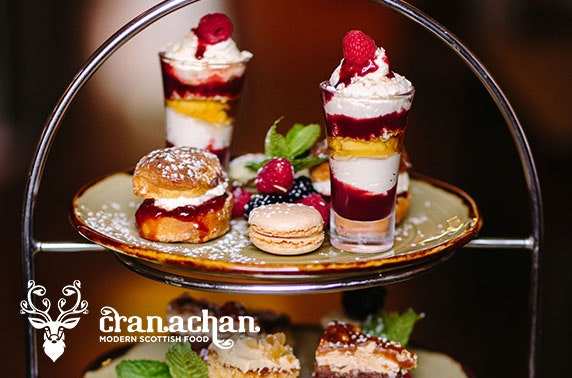 Cranachan afternoon tea, Princes Square