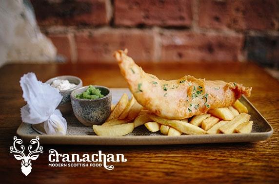 Cranachan dinner & drinks, Princes Square