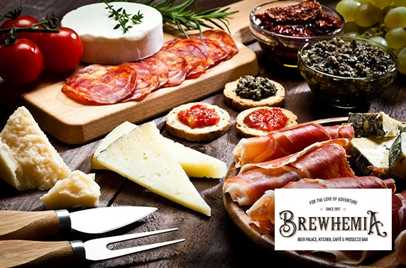 Brewhemia sharing boards & prosecco or gin flight
