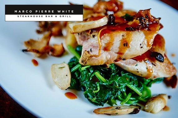 Marco Pierre White food & drinks voucher