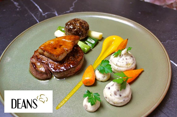 3 course Champagne Sunday dining at Deans, Perth