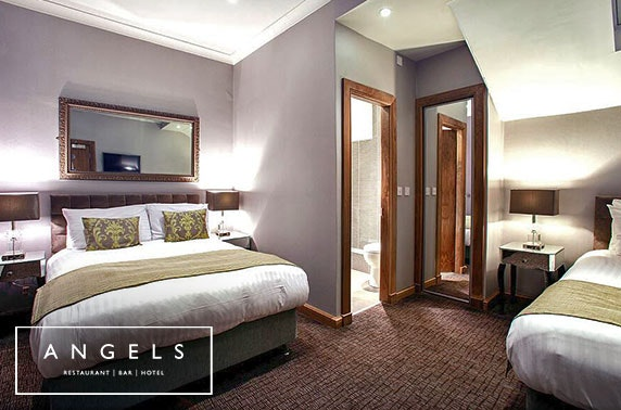 Recently-refurbished Angels Hotel DBB - £69