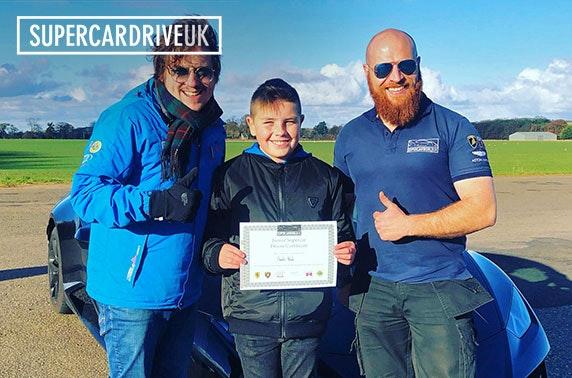 Junior supercar driving experiences - Carlisle or North Berwick